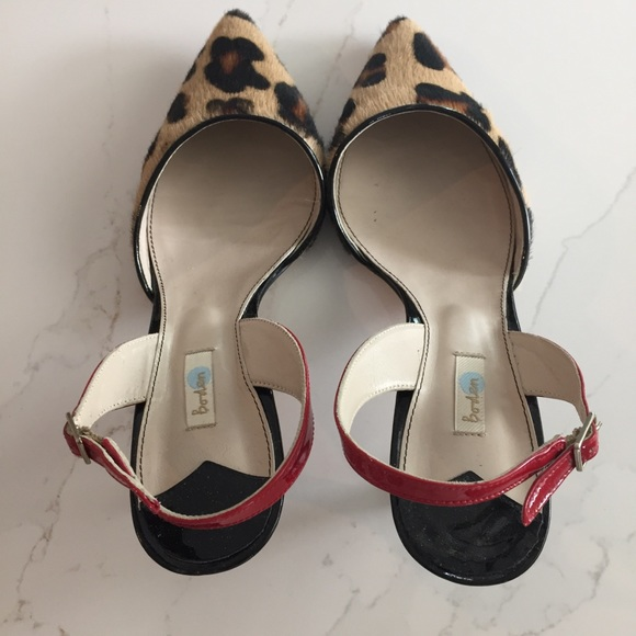 fed67fe07531 Boden Shoes | Kitten Heel Leopard Sling Backs | Poshmark